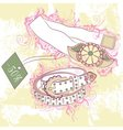 Decorative fashion of womens belts vector image