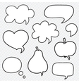 Set of hand drawn speech bubbles vector image