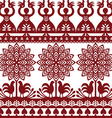 Seamless Polish folk art pattern Wycinanki vector image