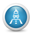 Car Accident Glossy Icon vector image
