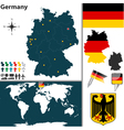 Germany map world vector image vector image