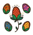 Set of bright Easter eggs vector image