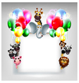 balloons decoration for you design and animal cart vector image