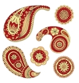 Henna Paisley Mehndi Design Element vector image