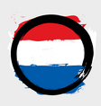 Netherlands circle flag vector image vector image