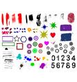 grunge elements vector image vector image