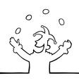 juggling jester vector image