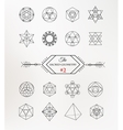 Sacred geometry Alchemy spirituality icons vector image vector image