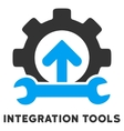 Integration Tools Flat Icon with Caption vector image