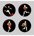 Athletes vector image