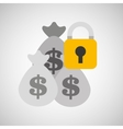 bags money bank safety lock vector image