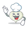 chef turnip character cartoon style vector image