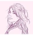 Flirting beautiful young woman vector image