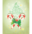 Holiday Card in vintage style with candies Handwri vector image