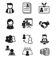 human resource staff management icons set vector image