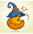 jack o lantern halloween pumpkin with black vector image