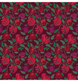 Red and green tulip and rose floral textile vector image