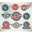 Vintage label banners and ribbons vector image
