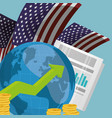 world economy infograph usa vector image