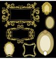 seven frames golden color vector image