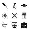 Scientific research icons set simple style vector image