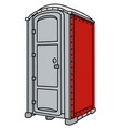 red and gray mobile toilet vector image