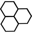 Cartoon bee hive vector image vector image
