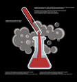 chemistry chemical experiment poster vector image