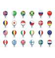 world flag pointers vector image vector image