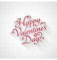 valentines day vintage retro lettering background vector image