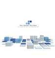 3d checked background vector image vector image