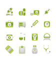 hospital and health care icons vector image vector image