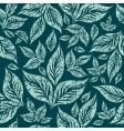 seamless grunge pattern with leafs vector image