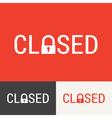 logo closed vector image vector image