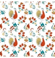 Rooster and flowers in Russian style vector image