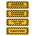 Industrial striped road warning yellow-black vector image