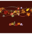 Autumn background seamless pattern vector image
