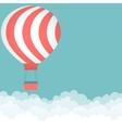 Background with hot air balloon vector image