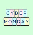 cyber monday holiday banner with phone vector image