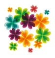floral cute frame decorative vector image