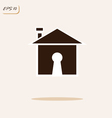 house and keyhole vector image
