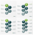 Infographic set of designs with ellipses 5-8 vector image