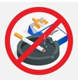 No smoking sign on white background Sign vector image