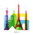 paris landmarks bright collage vector image