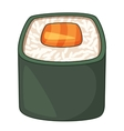 Roll traditional Japanese food icon cartoon style vector image