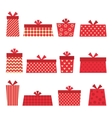 Set of red presents vector image