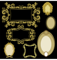 seven frames golden color vector image