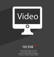 video icon symbol Flat modern web design with long vector image