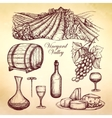 Wine Sketch Collection vector image