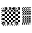 chessboard and chess vector image